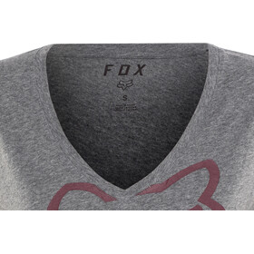 Fox Responded Rl V-Neck SS Shirt Damen heather graphite